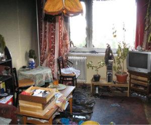 A VII. emeleti lakás a tűz után