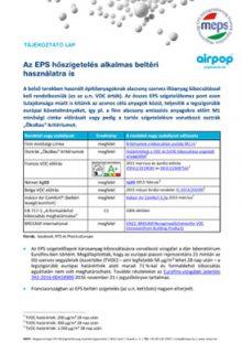 Az EPS hőszigetelés alkalmas beltéri használatra is