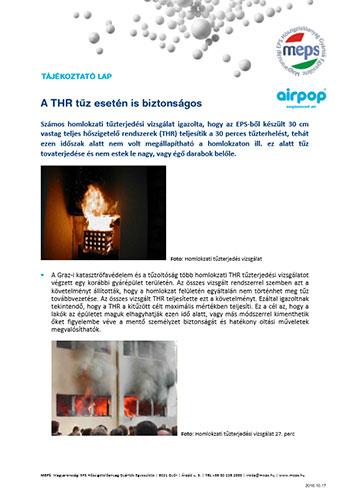 A THR tűz esetén is biztonságos