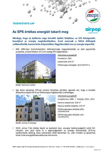 Az EPS értékes energiát takarít meg