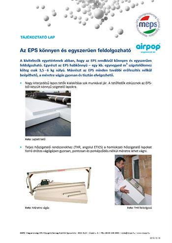 Az EPS könnyen és egyszerűen feldolgozható