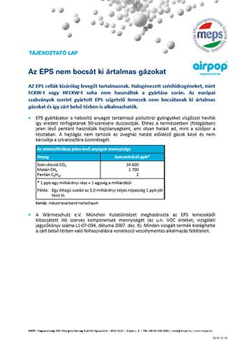 Az EPS nem bocsát ki ártalmas gázokat