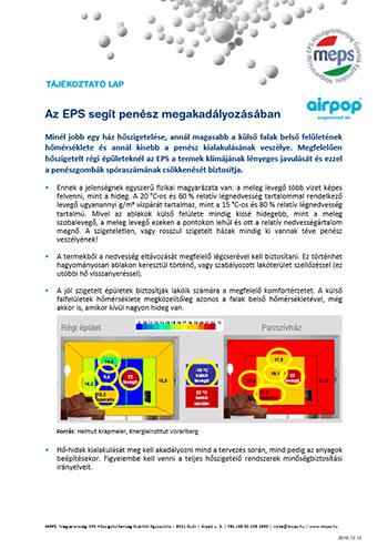Az EPS segít penész megakadályozásában