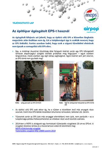 Az építőipar égésgátolt EPS-t használ