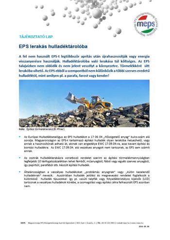 EPS lerakás hulladéktárolóba