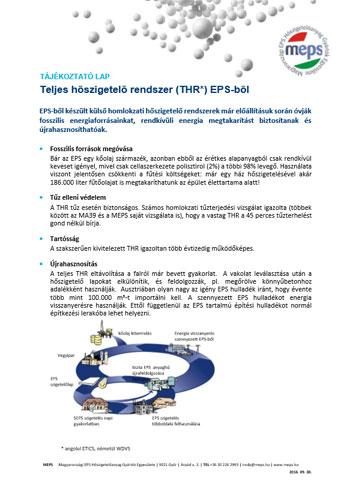Teljes hőszigetelő rendszer (THR) EPS-ből